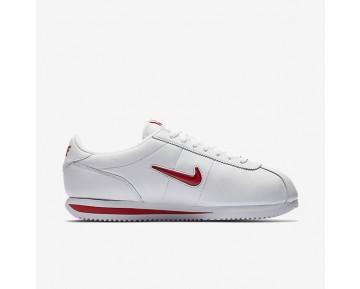 Nike Cortez Basic Jewel Qs Herren Schuhe Weiß/University Rot 938343-100