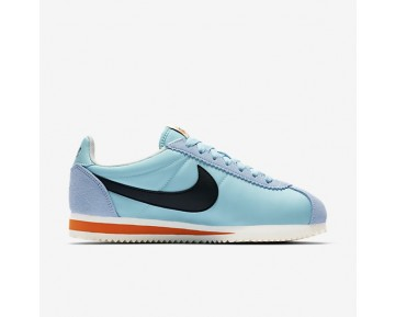 Nike Classic Cortez Nylon Premium Damen Schuhe Still Blau/Schwarz-Sail-Safety Orange 882258-402