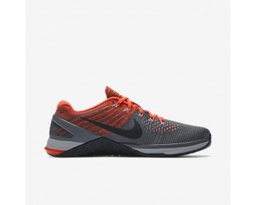 Nike Metcon DSX Flyknit Herren Trainingsschuhe Dunkelgrau/Hyper Crimson/Schwarz/Wolf grau 852930-010