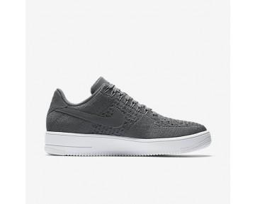 Nike Air Force 1 Flyknit Low Herren Schuhe Dunkelgrau/Weiß 817419-007