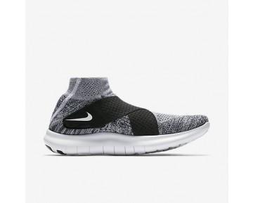 Nike Free RN Motion Flyknit 2017 Herren Laufschuhe Reines Platin/Schwarz/Wolf grau/Weiß 880845-001