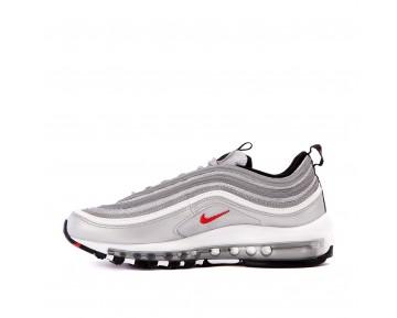 Nike Herren Air Max 97 OG QS 'Silber Bullet' Silber/Schwarz/Rot 884421-001