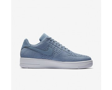 Nike Air Force 1 Flyknit Low Herren Schuhe Work Blau/Weiß 817419-402