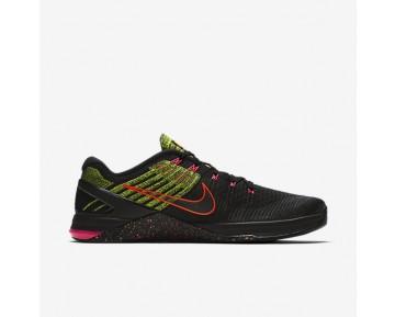 Nike Metcon Dsx Flyknit Herren Trainingsschuhe Schwarz/Racer Rosa/Volt/Schwarz 852930-014