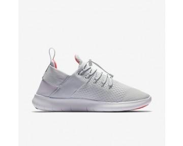 Nike Free RN Commuter 2017 Premium Damen Laufschuhe Reines Platin/Hot Punch/Weiß 880842-004