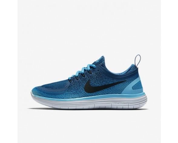 Nike Free RN Distance 2 Damen Laufschuhe Blau Lagoon/Industrial Blau/Polarised Blau/Schwarz 863776-400