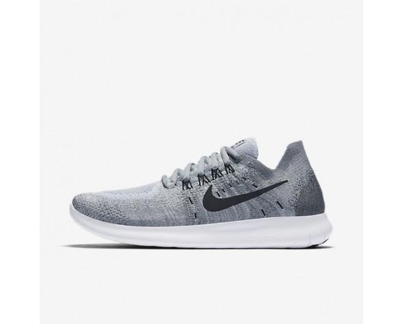 Nike Free RN 2017 Flyknit Damen Laufschuhe Wolf grau/Anthracite/Kaltes Grau/Schwarz 880844-002