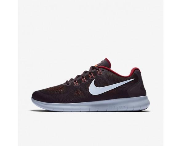 Nike Free RN 2017 Herren Laufschuhe Schwarz/Tough Rot/Port Wine/Hydrogen Blau 880839-007