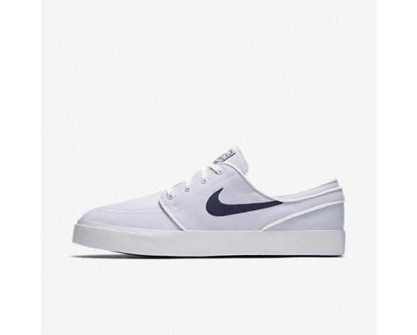 Nike SB Zoom Stefan Janoski Canvas Herren Skateboard Schuhe Weiß/Obsidian 615957-141