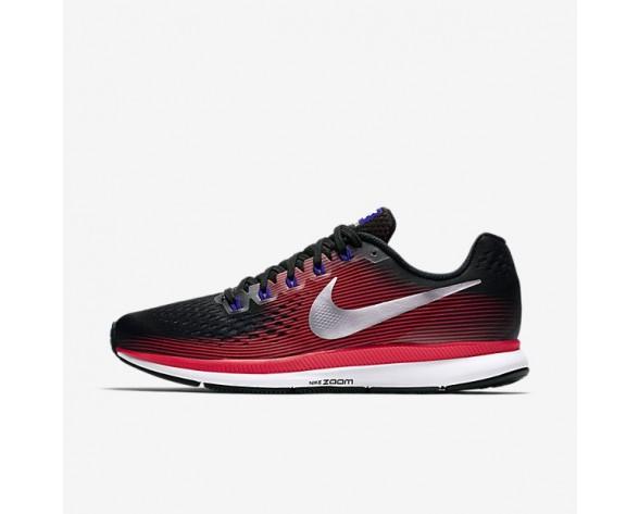 Nike Air Zoom Pegasus 34 Herren Laufschuhe Schwarz/Bright Crimson/Concord/Metallic Silber 880555-006