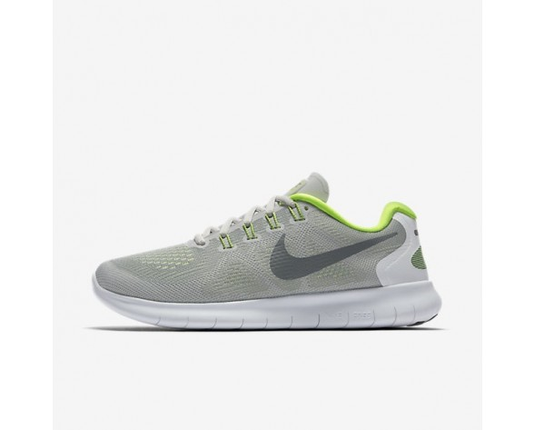 Nike Free RN 2017 Damen Laufschuhe Wolf grau/Reines Platin/Volt/Kaltes Grau 880840-004