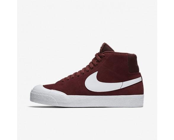 Nike SB Blazer Mid Xt Herren Skateboard Schuhe Dunkel Team Rot/Gummi hellbraun/Weiß 876872-619