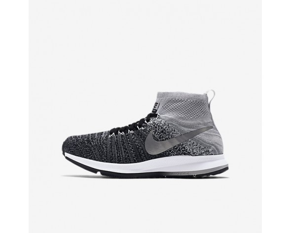 Nike Air Zoom Pegasus All Out Flyknit Damen Schuhe Schwarz/Wolf grau/Reines Platin/Weiß 844979-003