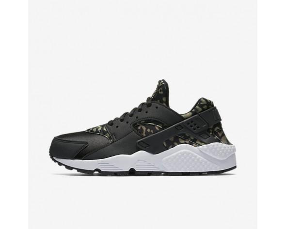 Nike Air Huarache Print Damen Schuhe Schwarz/Weiß/Khaki 725076-007