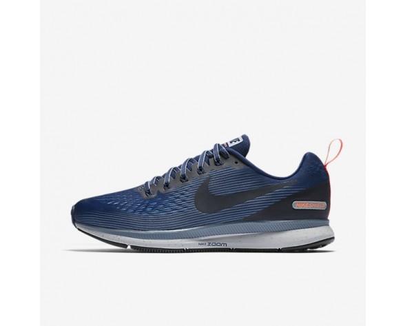 Nike Air Zoom Pegasus 34 Shield Herren Laufschuhe Binary Blau/Waffenkammer Blau/Obsidian 907327-400