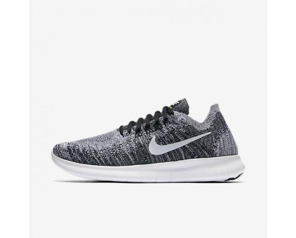 Nike Free RN 2017 Flyknit Damen Laufschuhe Schwarz/Volt/Weiß 880844-003