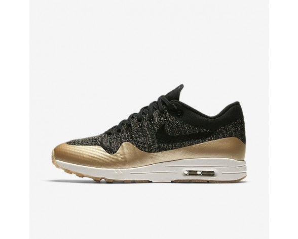 Nike Air Max 1 Ultra 2.0 Flyknit Metallic Damen Schuhe Schwarz/Metallic Gold Star/Flat Opal 881195-001