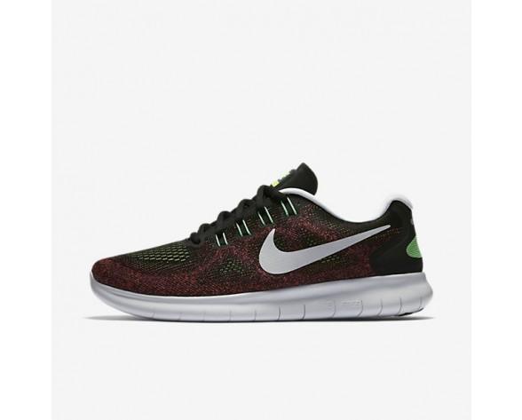 Nike Free RN 2017 Herren Laufschuhe Schwarz/Hot Punch/Chlorine Blau/Schwarz 880839-005