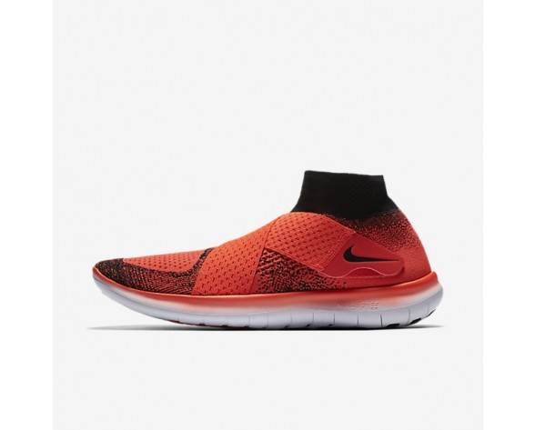 Nike Free RN Motion Flyknit 2017 Herren Laufschuhe Bright Crimson/Hyper Orange/University Rot 880845-600