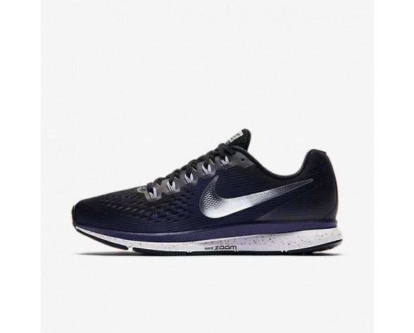 Nike Air Zoom Pegasus 34 Damen Laufschuhe Schwarz/Ink/Provence Violett/Metallic Silber 880560-015