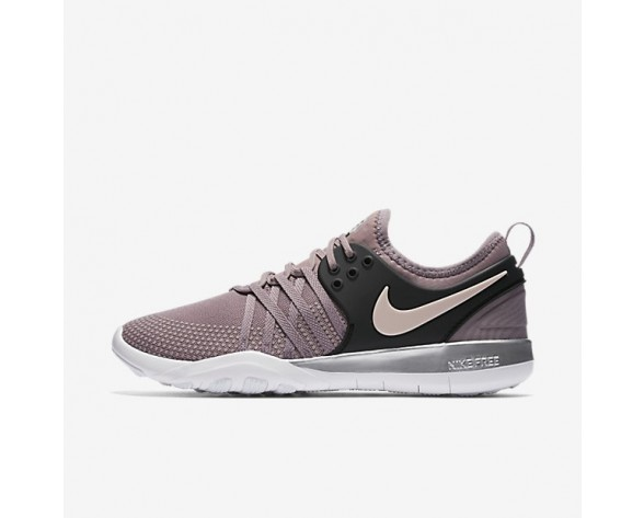 Nike Free TR 7 Chrome Blush Damen Trainingsschuhe Taupe Grau/Sunset Tint/Chrome/Schwarz 921061-200