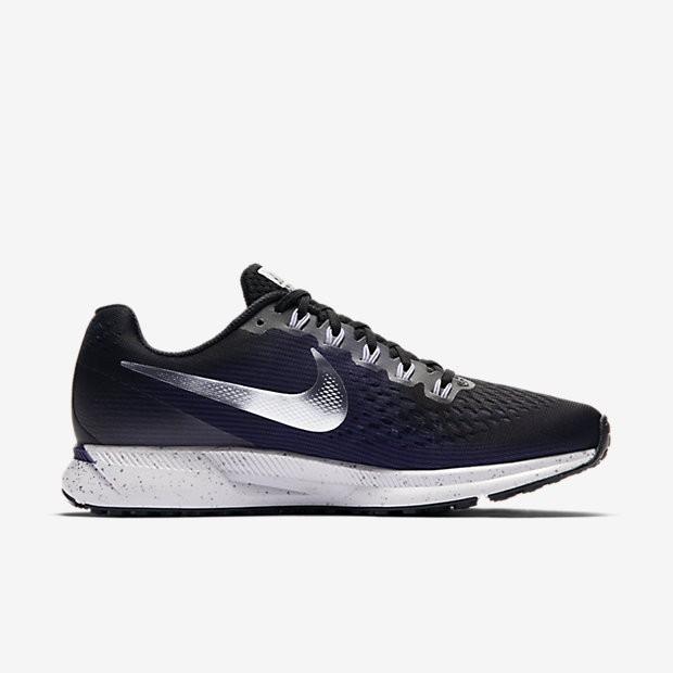 various colors 64be6 65661 Nike Air Zoom Pegasus 34 Damen Laufschuhe Schwarz/Ink/Provence  Violett/Metallic Silber 880560-015