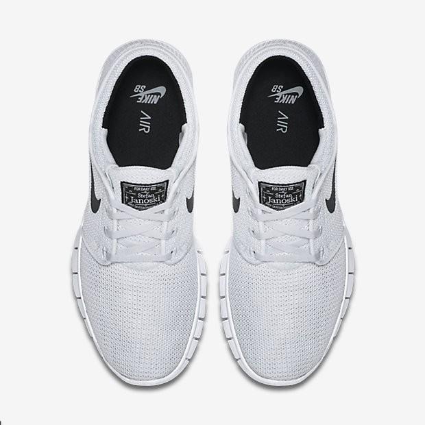 premium selection d16d0 4d747 Nike SB Stefan Janoski Max Herren Skateboard Schuhe Weiß/Schwarz 631303-100.  Regulaerer Preis: 118,09 €