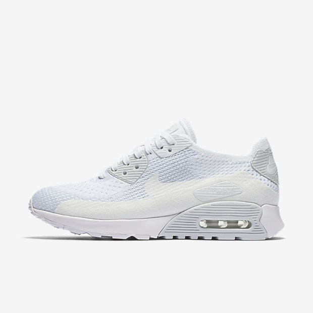 Günstig Nike Air Max 90 Ultra 2.0 Flyknit Damen Schuhe Weiß
