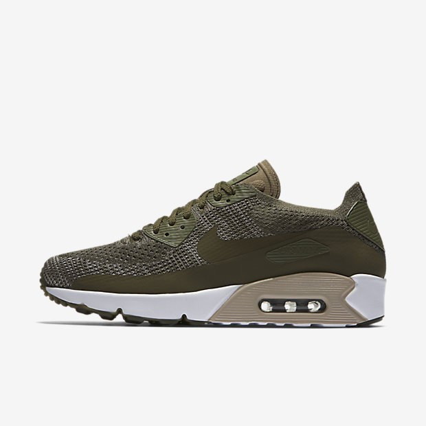 check out 0b893 51879 Nike Air Max 90 Ultra 2.0 Flyknit Herren Schuhe Medium  Olive String String Medium Olive 875943-200