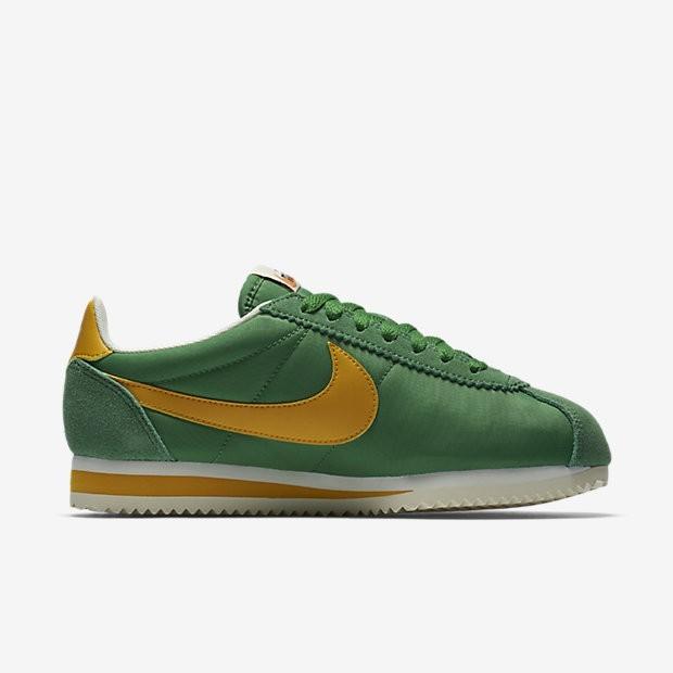 reputable site 53728 83668 Nike Classic Cortez Nylon Premium Damen Schuhe Classic Grün/Sail/Gelb Ochre  882258-301