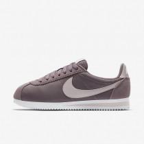 Nike Classic Cortez 15 Nylon Damen Schuhe Taupe Grau/Weiß/Siltstone Rot 749864-200