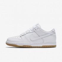 Nike Dunk Retro Low Damen Schuhe Weiß/Reines Platin/Gummi hellbraun 311369-100