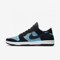 Nike Dunk Low Flyknit Herren Schuhe Schwarz/Summit Weiß/Chlorine Blau 917746-001