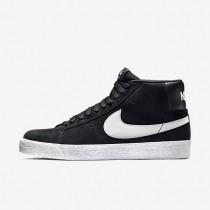 Nike SB Blazer Premium SE Herren Skateboard Schuhe Schwarz/Weiß/Base Grau 631042-003