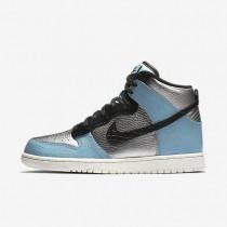 Nike Dunk High LX Damen Schuhe Metallic Silber/Mica Blau/Ivory/Schwarz 881233-002