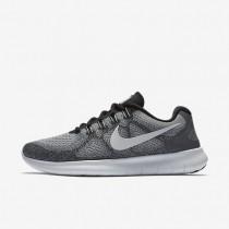 Nike Free RN 2017 Damen Laufschuhe Wolf grau/Reines Platin/Schwarz/Off-Weiß 880840-002