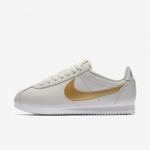 Nike Classic Cortez Damen Schuhe Light Bone/Weiß/Metallic Gold 807471-011