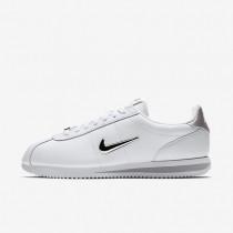 Nike Cortez Basic Jewel Herren Schuhe Weiß/Metallic Silber 833238-101