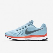 Nike Air Zoom Pegasus 34 Damen Laufschuhe Ice Blau/Bright Crimson/Weiß 880560-404