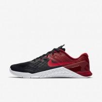 Nike Metcon 3 Herren Trainingsschuhe Schwarz/Team Rot/Weiß/Siren Rot 852928-009