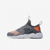 Nike Air Huarache Run Ultra Damen Schuhe Kaltes Grau/Reines Platin/Wolf grau/Orange 942122-001