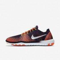 Nike Free Focus Flyknit 2 Damen Trainingsschuhe Grand Violett/Bright Mango/Volt/Weiß 880630-501