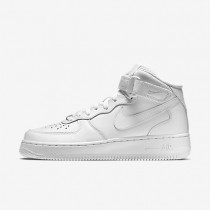 Nike Air Force 1 Mid 07 Leather Damen Schuhe Weiß/Weiß 366731-100