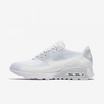 Nike Air Max 90 Ultra 2.0 Flyknit Damen Schuhe Weiß/Reines Platin/Weiß 881109-104
