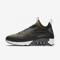 Nike Air Max 90 Ultra Mid Winter Herren Schuhe Sequoia/Schwarz/Dunkelgrau/Medium Olive 924458-300
