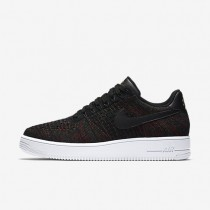 Nike Air Force 1 Flyknit Low Herren Schuhe Schwarz/Metallic Gold/Weiß 817419-005