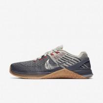 Nike Metcon DSX Flyknit Herren Trainingsschuhe Dunkelgrau/Dunkler Stuck/Blassgrau/Metallic Silber 852930-012