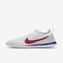 Nike Cortez Flyknit Herren Schuhe Weiß/Varsity Rot - Varsity Blau AA2029-100