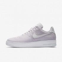 Nike Air Force 1 Flyknit Low Herren Schuhe Light Violet/Weiß/Light Violet 817419-500