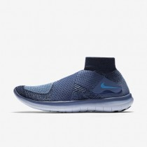 Nike Free RN Motion Flyknit 2017 Herren Laufschuhe Ocean Fog/Blau Tint/Chlorine Blau 880845-400